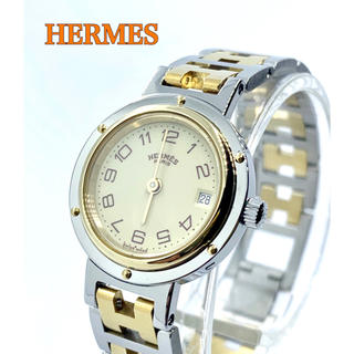 Hermes - 美品 HERMES エルメス クリッパー レディース腕時計 クォーツ 箱あり
