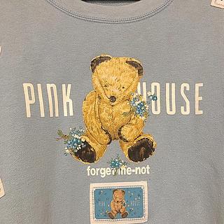 ピンクハウス(PINK HOUSE)の【最終値下げ】ピンクハウス 勿忘草とくまのトレーナー(トレーナー/スウェット)