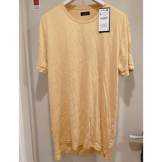 ザラ(ZARA)の【半額以下】新品タグ付き ZARA Tシャツ イエロー(Tシャツ/カットソー(半袖/袖なし))