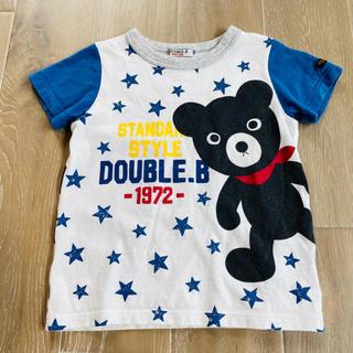 ダブルビー(DOUBLE.B)のミキハウス ダブルビー ふりむきビーくん Tシャツ 100(Tシャツ/カットソー)