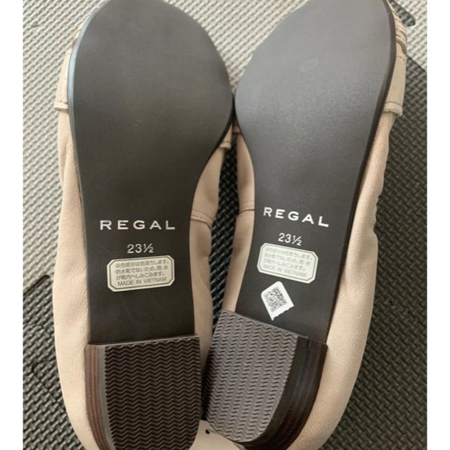 REGAL(リーガル)のREGAL フラットシューズ ベージュ 23.5㎝ レディースの靴/シューズ(ローファー/革靴)の商品写真