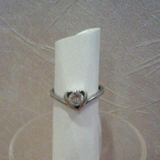 値下げ!キラキラ石のハートリング(リング(指輪))