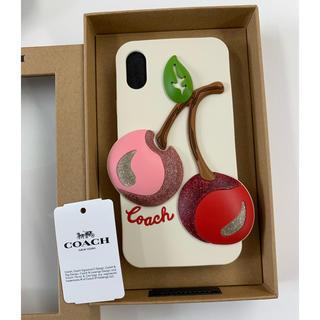 コーチ(COACH)のコーチ COACH iPhoneXS カバー チェリー(iPhoneケース)