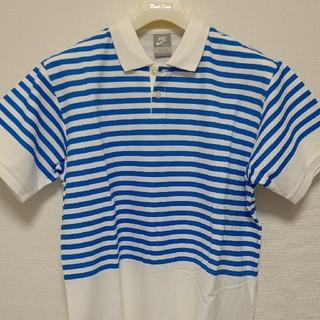フラグメント(FRAGMENT)の【新品未使用】NIKE × FRAGMENT ボーダーポロシャツ青サイズXL (ポロシャツ)