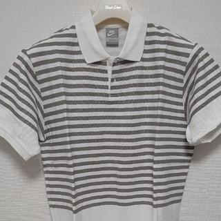 フラグメント(FRAGMENT)の【新品未使用】NIKE × FRAGMENT ボーダーポロシャツグレーXL(ポロシャツ)