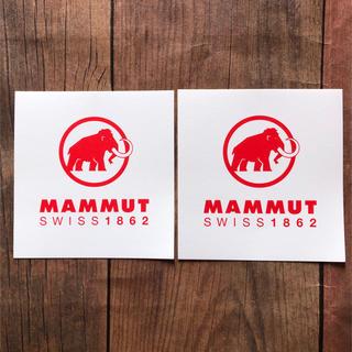 マムート(Mammut)のMAMMUT(マムート)ステッカー2枚セット(登山用品)