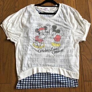ディズニー(Disney)のミッキー&ミニー カットソー Tシャツ タンクトップ(カットソー(半袖/袖なし))