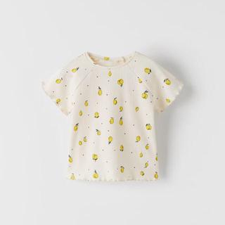 ザラキッズ(ZARA KIDS)の新品未使用✳︎zarababyレモン柄トップス Tシャツ 74cm(Tシャツ)