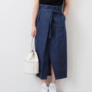 イエナ(IENA)のIENA タックラップスカート 40(ひざ丈スカート)