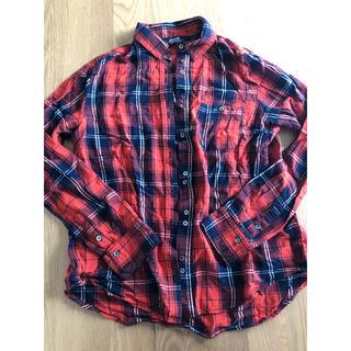 マウジー(moussy)のmoussy  チェックシャツ とろみシャツ(Tシャツ(長袖/七分))