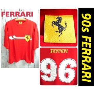 フェラーリ(Ferrari)の90s FERRARI フェラーリ 赤 ビッグサイズ Tシャツ 古着(その他)