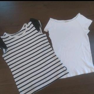 ザラ(ZARA)のボーダートップスとリブTシャツ (Tシャツ/カットソー)