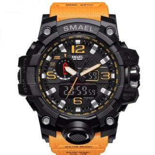 高級ダイバーズウォッチ 50M防水 イエロー(腕時計(デジタル))