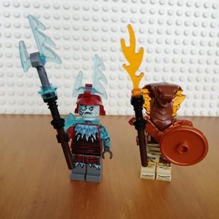 レゴ(Lego)のレゴ ニンジャゴー ミニフィグ ブリザードアーチャー、パイロデストロイヤー(キャラクターグッズ)