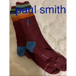 ポールスミス(Paul Smith)のpaul smith ポールスミス フェザーソックス ワインレッド(ソックス)