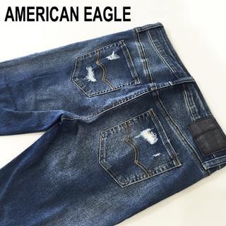 アメリカンイーグル(American Eagle)のアメリカンイーグル☆ダメージ加工スーパースキニーW29約79cm(デニム/ジーンズ)