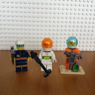 レゴ(Lego)のレゴ シティ ミニフィグ 宇宙作業員3体(キャラクターグッズ)