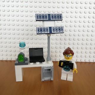 レゴ(Lego)のレゴ シティ ミニフィグ 宇宙研究者と研究机(キャラクターグッズ)