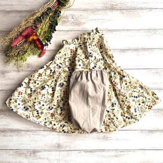 Caramel baby&child  - ふんわりお袖のギャザーブラウス 木の実柄 90
