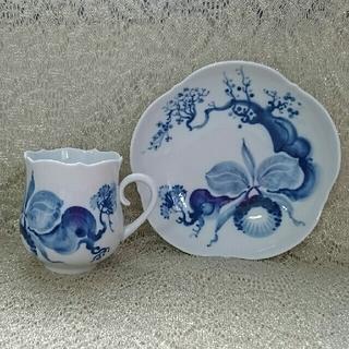 マイセン(MEISSEN)のMEISSEN カップ&ソーサー ブルーオーキッド(食器)