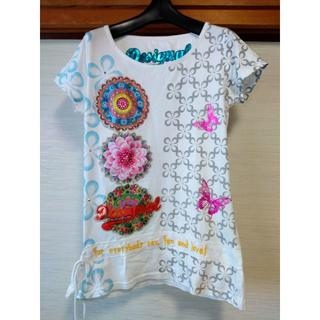 デシグアル(DESIGUAL)のデシグアル チュニック ホワイト(Tシャツ(半袖/袖なし))
