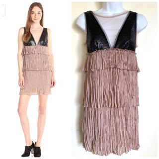 ビーシービージーマックスアズリア(BCBGMAXAZRIA)のBCBG Averil ドレス ワンピース XS 3万(ミディアムドレス)