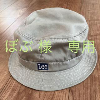 リー(Lee)の専用-Lee ボックスロゴ バケットハット ベージュ (ハット)