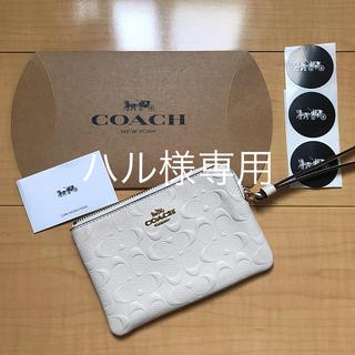 コーチ(COACH)の新品COACH ポーチ  カードケース  小銭入れ(コインケース/小銭入れ)