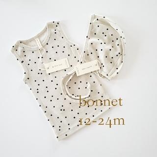Caramel baby&child  - quincy mae クインシーメイボンネットドット