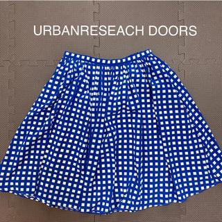 ドアーズ(DOORS / URBAN RESEARCH)のアーバンリサーチドアーズ ギンガムチェックスカート(ひざ丈スカート)