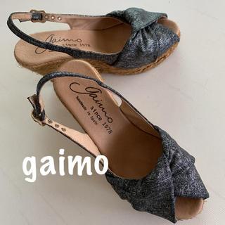 gaimo - Gaimo ガイモ ウェッジ サンダル エスパドリーユ 35