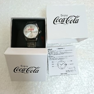コカコーラ(コカ・コーラ)のコカ・コーラ 腕時計 ブラック アミューズメント景品(ノベルティグッズ)