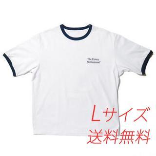 ワンエルディーケーセレクト(1LDK SELECT)のEnnoy RINGER TEE (WHITE x NAVY)  Lサイズ(Tシャツ/カットソー(半袖/袖なし))