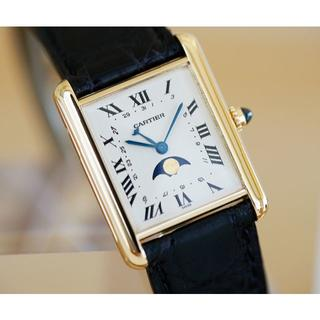 Cartier - 美品 タンク ルイ カルティエ 18KYG ムーンフェイズ LM Cartier