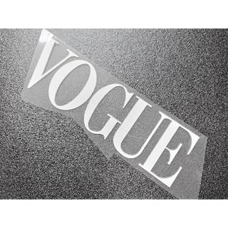 VOGUE ヴォーグ アイロン プリント パッチ 白(ファッション)