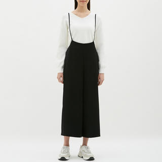GU - GU サロペットワイドパンツ ★ 09 BLACK ★ Mサイズ
