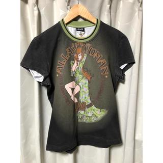 ドルチェアンドガッバーナ(DOLCE&GABBANA)の古着 Dolce&gabbana ドルガバ D&G 染め 女性 半袖 Tシャツ(Tシャツ/カットソー(半袖/袖なし))