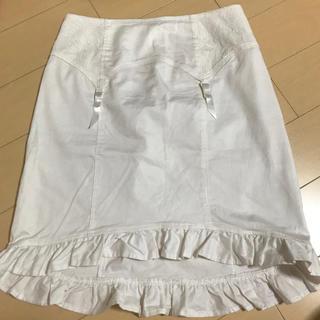 ケイティー(Katie)のkatie ガータースカート ホワイト(ミニスカート)
