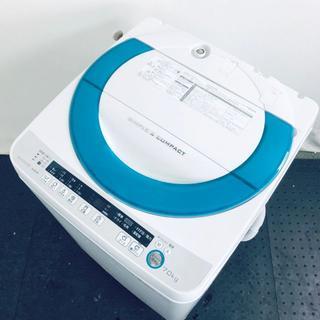 ★送料・設置無料★ シャープ 洗濯機 7.0kg グリーン (No.5475)(洗濯機)
