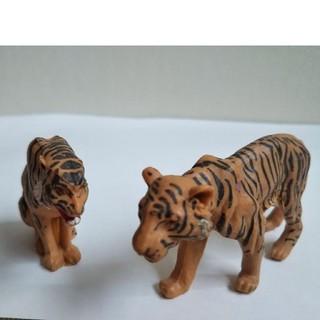 虎二頭 フィギュア ブリテン動物1979年ヴィンテージ(その他)