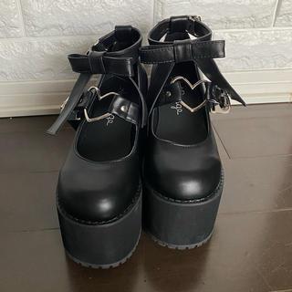 アンクルージュ(Ank Rouge)の『Ank Rouge』ハートバックル厚底シューズ(ローファー/革靴)