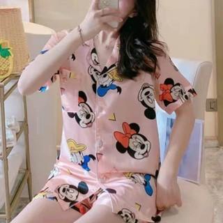 ミッキーマウス - sale シルク ピンク ミッキーマウス パジャマ