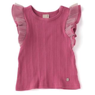 プティマイン(petit main)のプティマイン 120 袖フリルタンクトップ(Tシャツ/カットソー)
