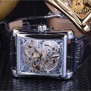 新品 送料込み WINNER メンズスケルトン 自動巻き 腕時計 シルバー (腕時計(デジタル))