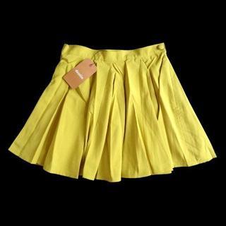 ダズリン(dazzlin)の新品 定価5985円 ダズリン DazzliN 黄色 フレア ミニ スカート M(ミニスカート)