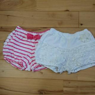 ムージョンジョン(mou jon jon)の女の子 パンツ 2枚セット 90(パンツ/スパッツ)
