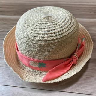 ケイトスペードニューヨーク(kate spade new york)のケイトスペード 麦わら帽子 キッズ 48-52cm(帽子)