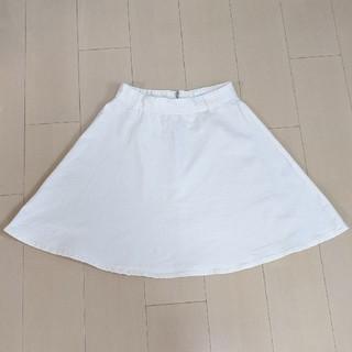 ローリーズファーム(LOWRYS FARM)のLOWRYS FARM 台形スカート 白(ミニスカート)