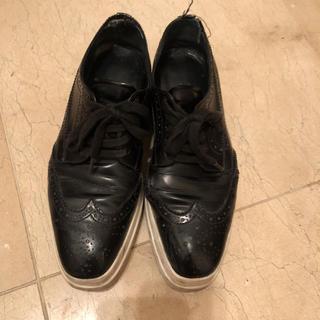 プラダ(PRADA)のプラダ プラットフォーム レースアップシューズ 36(ローファー/革靴)