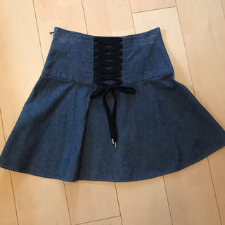 レッドヴァレンティノ(RED VALENTINO)のバックリボン♡デニムスカート(ミニスカート)